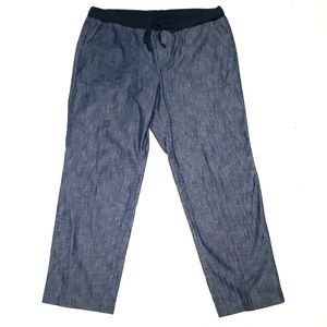Talbots Chambray Casual Pants 12 Petite